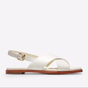 Cole Haan white Fernanda Cross sandals sz11 NWOT